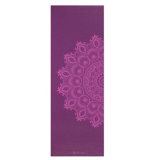 Gaiam 6mm Yoga Mat Purple Mandala