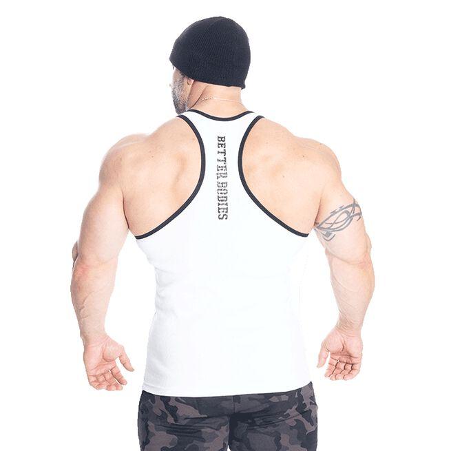 Jersey Rib T-back, White, S