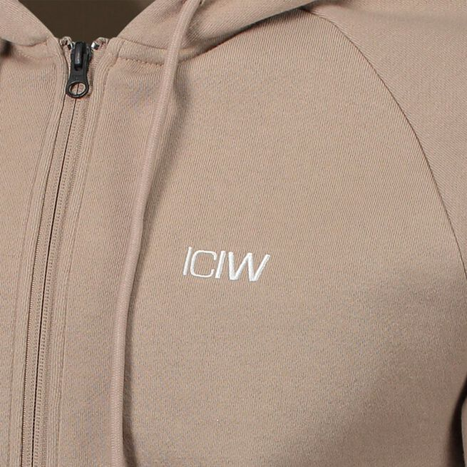 ICANIWILL Essential Zipper Hoodie, Sand