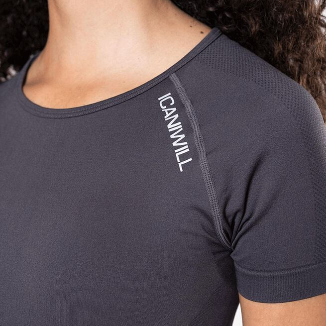 ICIW Define Seamless Cropped T-shirt, Graphite