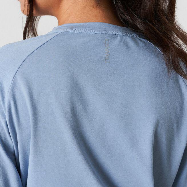 ICANIWILL Define Cropped Adjustable Long Sleeve Powder Blue