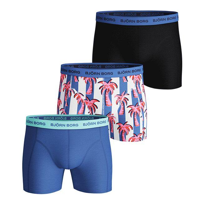 3-Pack Sammy Shorts BB Palmstripe, Ultramarine, L