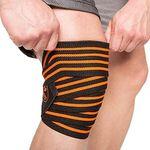 Knee Wraps, Black/Orange, 2 m