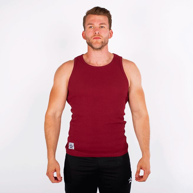 Star Rib Tank Top, Maroon