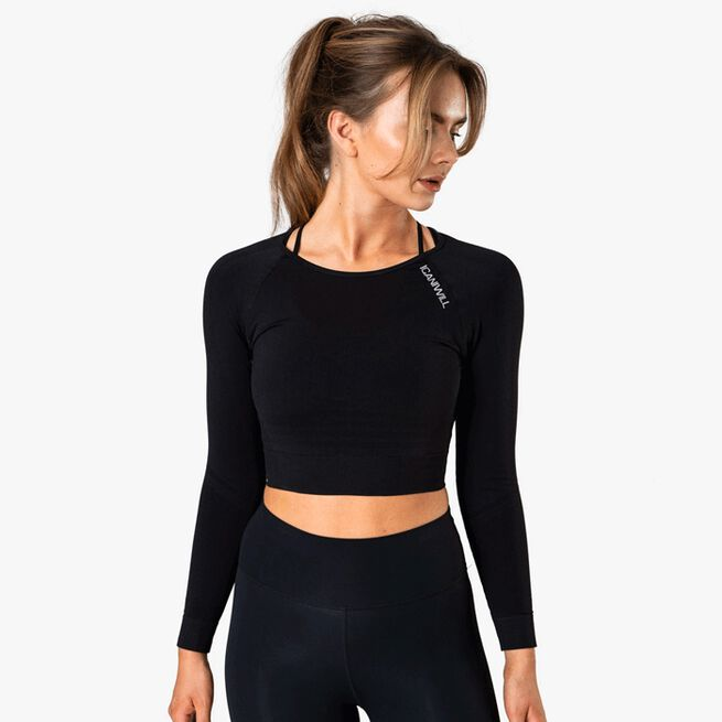 ICIW Define Seamless LS Crop Top Black