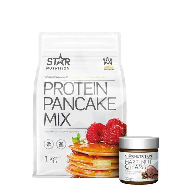 Star nutrition protein pancakes hazelnut cream