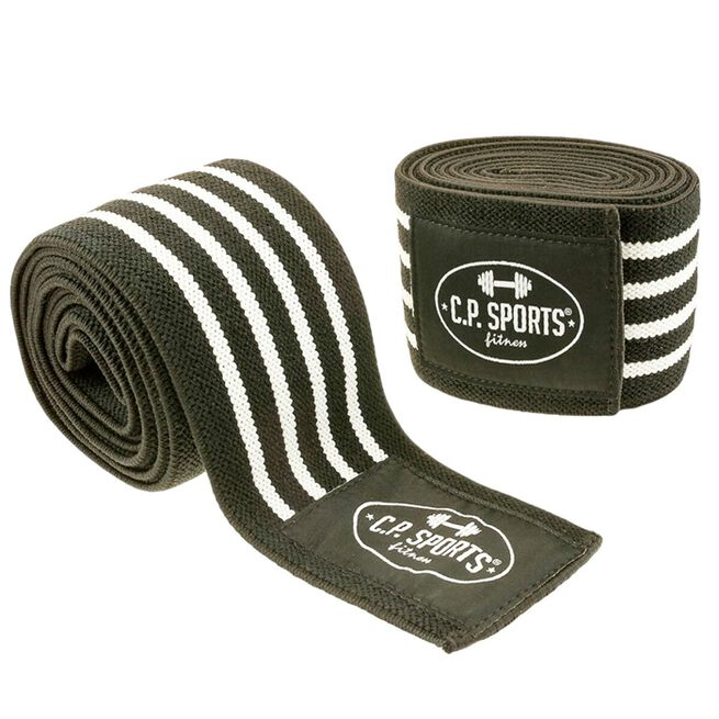 Knee Wraps, Black/White, 2 m