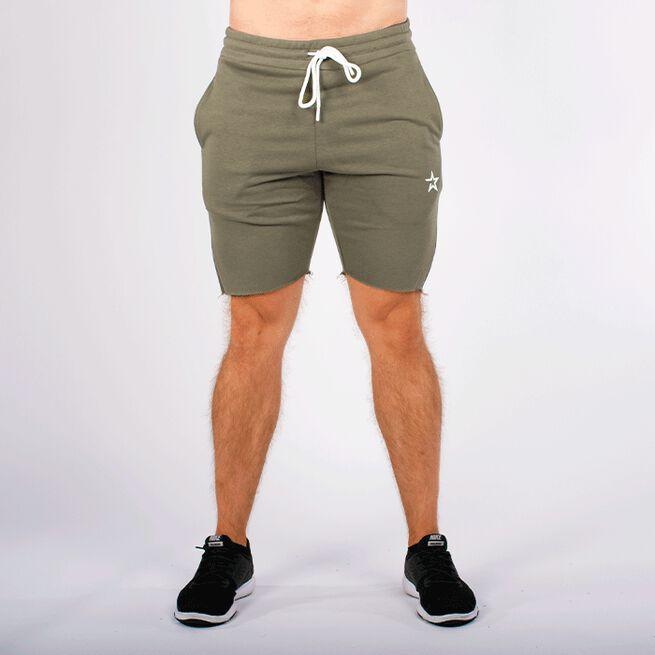 Star Raw Edge Shorts, Olive