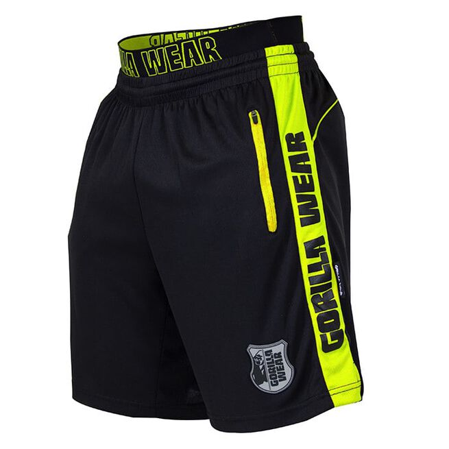 Shelby Shorts, Black/Neon Lime, 3XL