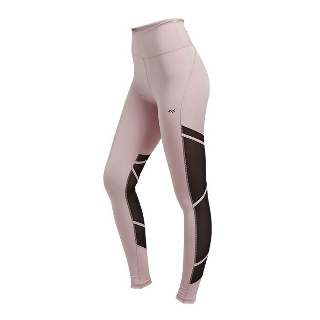 Mesh Tape Tights, Pale Pink, M