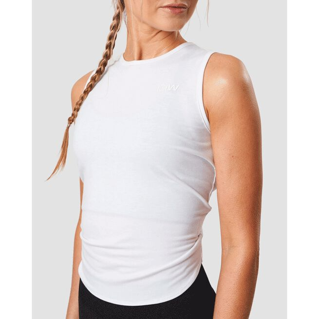 Empowering Open Back Tank, White