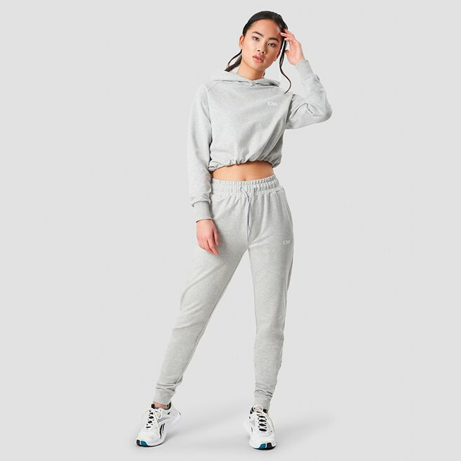 ICANIWILL Adjustable Cropped Hoodie Light GreyICANIWILL Adjustable Cropped Hoodie Light Grey