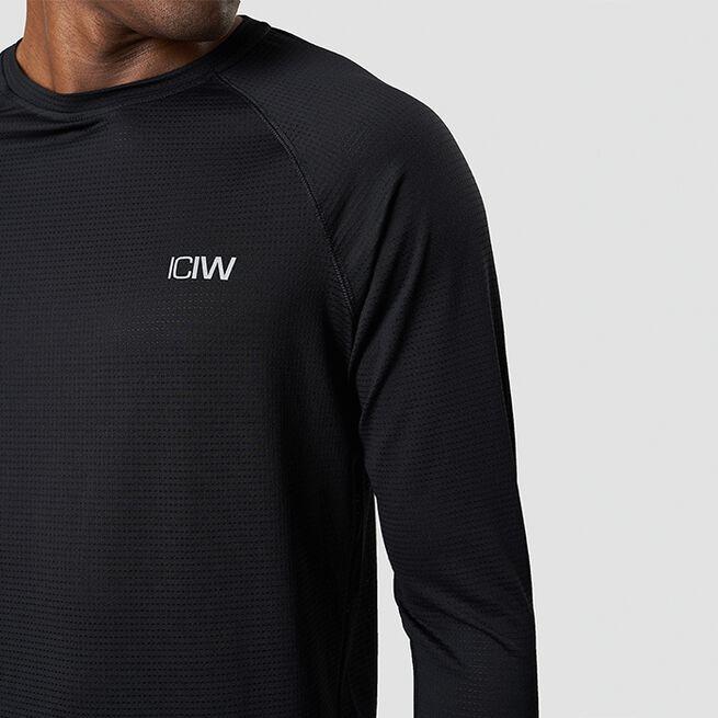 ICANIWILL Training Mesh Long Sleeve, Black