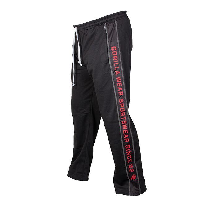Functional Mesh Pants, Black/Red, S/M