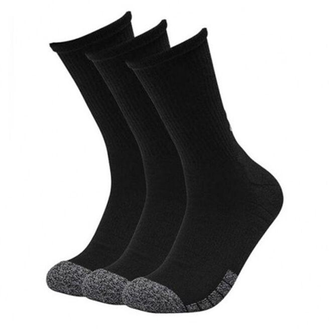 UA Heatgear Crew 3-pack Socks, Black, L