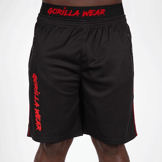 Mercury Mesh Shorts, Black/Red, S/M