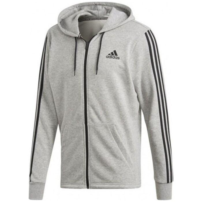 Bilde av Adidas 3 Stripes Fullzip Hoodie, Grey