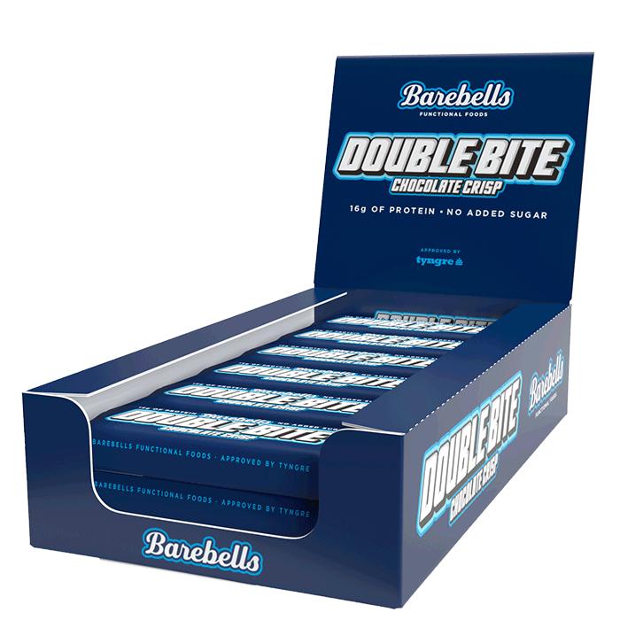 Bilde av 12 X Barebells Double Bite Protein Bar, 55 G, Chocolate Crisp