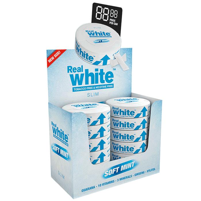 Bilde av 10 X Kickup Real White, Soft Mint Slim, 24 Portionspåsar