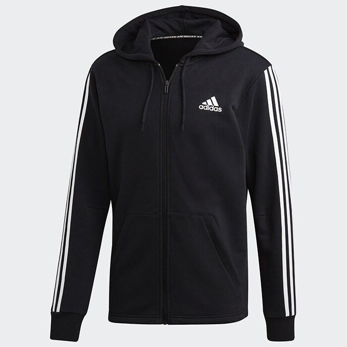 Bilde av Adidas 3 Stripes Fullzip Hoodie, Black